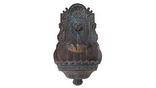 "Lion Head Bronze 31 1/2"" High Indoor Outdoor Fountain"