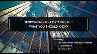 Webinar: Responding to a Data Breach | What you should know!