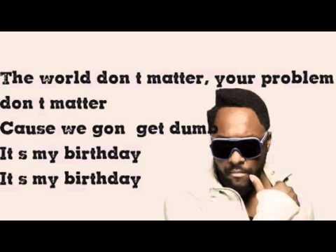 Its my birthday william lyrics