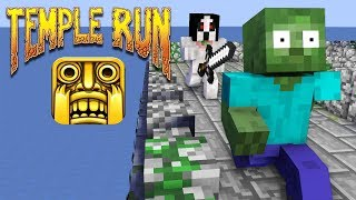 Monster School : SCARY SLENDRINA VS TEMPLE RUN CHALLENGE - Minecraft Animation