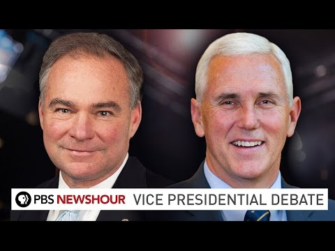 Watch the 2016 Vice Presidential Debate between Mike Pence and Tim Kaine