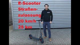 Elektro Tretroller mit Straßenzulassung