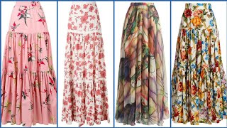 Outstanding Floral Print Maxi Skirt Collection For Women 2019 - Floral Print Skirts Ideas