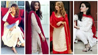 Outstanding Red And White Color Combination Dresses Ideas