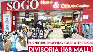 DIVISORIA - 168 MALL (SOGO Home Furniture Shopping Tour)  | Sofa, Dining Table & More