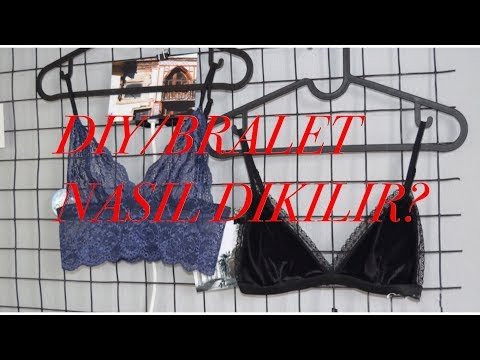 DIY / Bralet Nasıl Yapılır?(iki model/ 5 lira) How You can Make bralette?