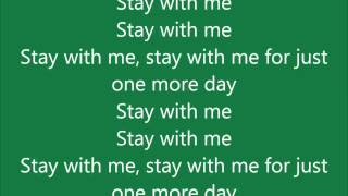 Example - One more day (Stay with me) LYRICS