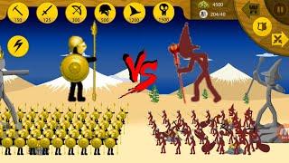 100 Golden Speartons & Griffon VS Magikill | Insane MODE Campaign | Stick War Legacy