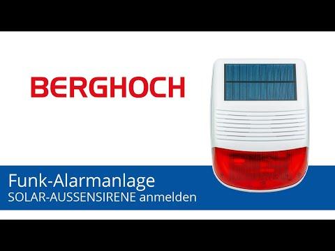BERGHOCH Alarmanlage | Solar-Aussensirene anmelden