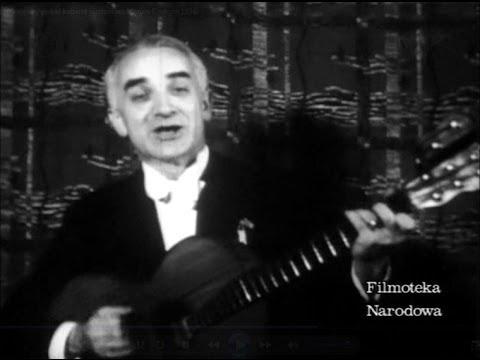 Przedwojenny polski kabaret piosenkarz Marian Rentgen 1936