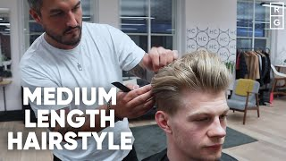 Medium Length Hairstyle For Men | With Undercut And Fade
