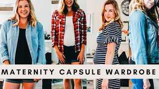 Capsule Wardrobe For Summer/Fall 2020 Maternity Fashion | 16 Pieces 64+ Outfits
