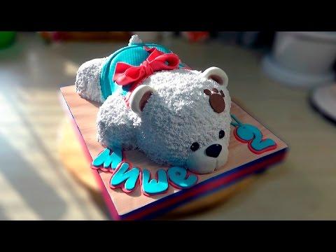 Как приготовить торт в виде мишки