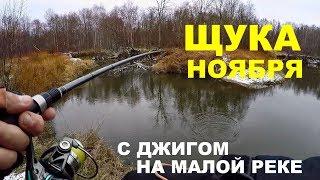 Ловля щуки на малых реках в ноябре.