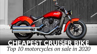 10 Cheapest Cruiser Motorcycles On Sale Today (Detailed Specifications And Price Information)