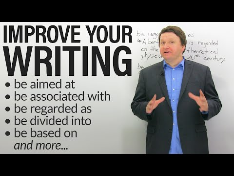 Improve your Academic Writing: PASSIVE PREPOSITIONAL VERBS (also great for IELTS & TOEFL!)
