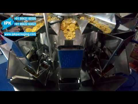 Multihead Weigher Pouch Packing Machine for Snacks, Mixture, Chips,Namkeen,Murukku,Sev,Groundnut,Dal