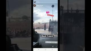 Dua Lipa Instagram Story   At Reading Festival 24 August 2018