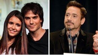 Нина Добрев и Йен Сомерхолдер, Vampire Diaries and True Blood Get Raunchy, Iron Man 3's Romance - Comic-Con 2012