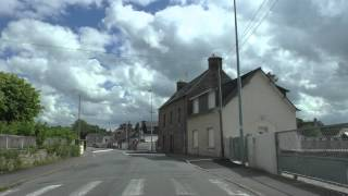 preview picture of video 'Driving Along Rue Ruello, Rue Rustang & Route de Bourbriac, 22200 Guingamp, Brittany, France'