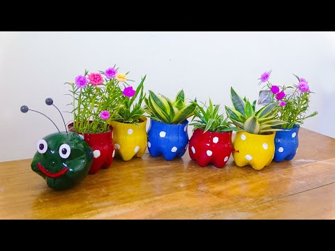 The Idea Of Recycling Plastic Bottles For Beautiful Worm Shaped Gardens