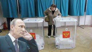 Русские рабы опять выбрали мафию Путина.Выборы в России 2016