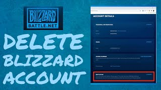 How to Delete Blizzard Account 2021?
