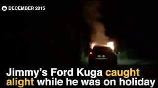 EXCLUSIVE: Harrowing footage emerges of fatal Ford Kuga burning