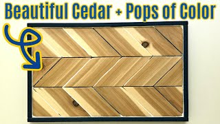 Chevron Wood Wall Art DIY Project - Using Cedar