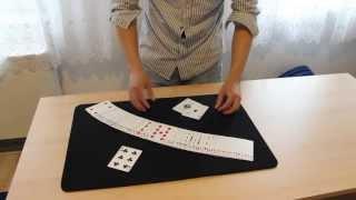 """Смотреть онлайн Обучение карточному фокусу """"Два волшебника"""""""