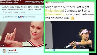 Fans Reactions  To Angelique Kerber Tweet Saying Congrats To Andreescu