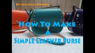 How To Make a Simple Leather Purse
