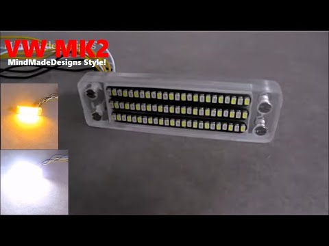 How to make car turn signal flowing led + drl light switchback