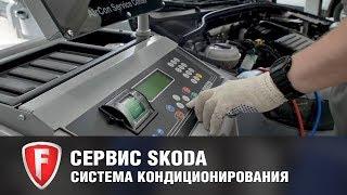 Диагностика и обслуживание системы кондиционирования у официального дилера Шкода