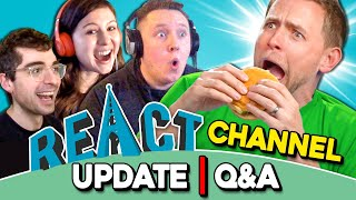 Did Ashby Throw Up The Burgers? | React Channel Update/Q&A (May 2020)