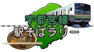 【宇都宮線駅そばラリー】宇都宮線の改札内にある立ち食いそば屋巡り / Utsunomiya Line Station Soba Rally