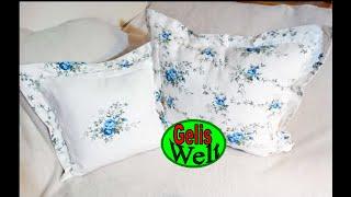 DIY Kissen mit Kante und Reißverschluss selber nähen