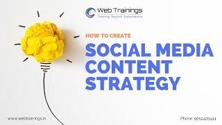How to Create Social Media Content Strategy - Social Media Marketing Tutorial - Part 3