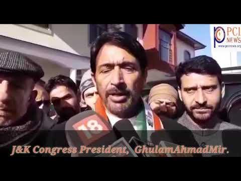 J&K Congress President, Ghulam Ahmad Mir.