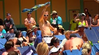 Cruise Ship Hairy Chest Competition - Matt From Family Fun Pack