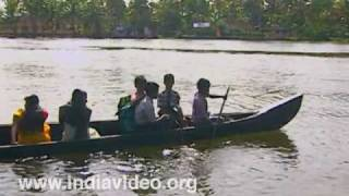 The sprawling backwaters of Kerala
