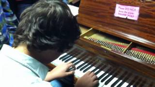 Holy crap! Steve, the 14-year old piano phenom plays piano