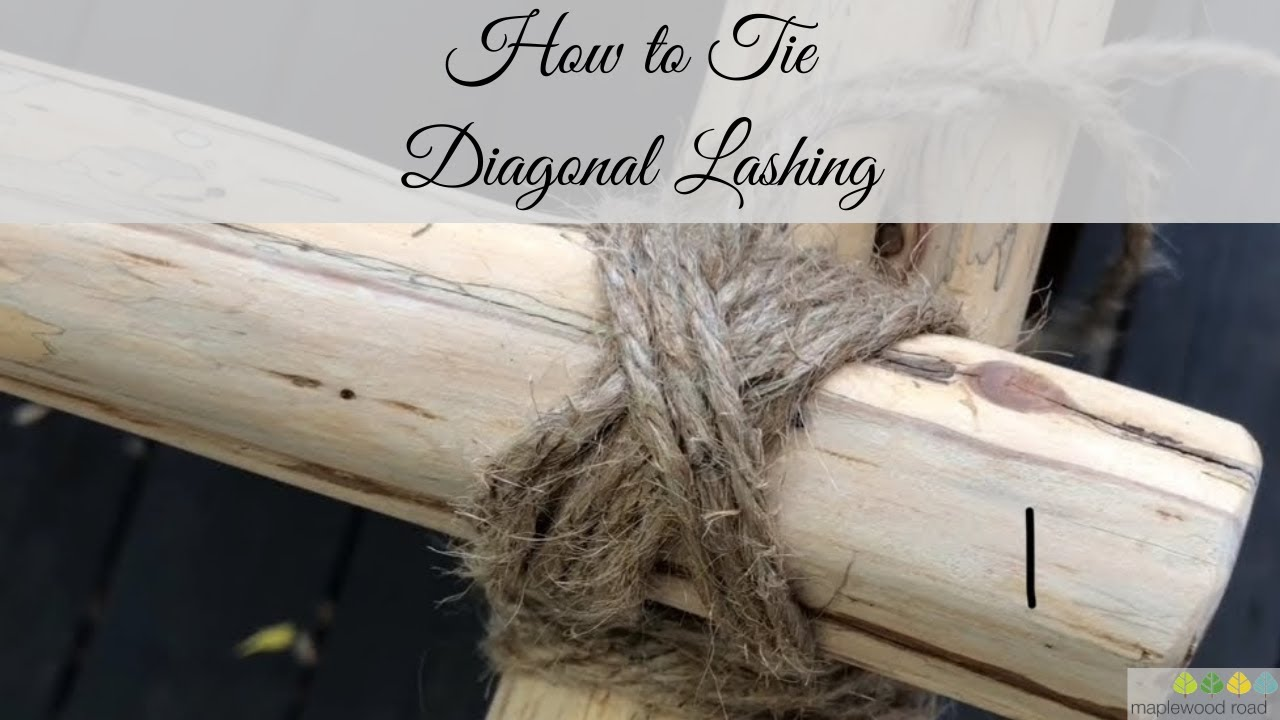 How to Tie Diagonal Lashing for DIY Home Decor Ladder