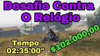 GTA 5 Online - Como ganhar dinheiro - Desafio Contra o relógio Vinewood Hills - 02:35 $102.000,00