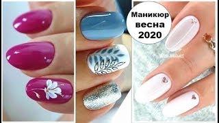 Маникюр на средние ногти – весна 2020