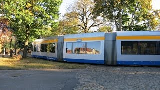 preview picture of video 'Markkleeberg-Ost [DE], Linie 11 (Flexity Classic XXL - NGT12-LEI Nr. 1224)'