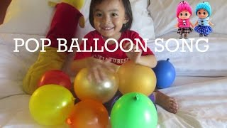 Lagu Anak Mengenal 10 Malaikat  + Five Color Ballon ❤ Color Pop Ballons Song @LifiaTubeHD