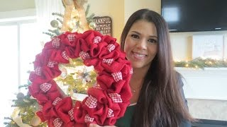 HOW TO | BURLAP WREATH WITH ACCENT RIBBON!