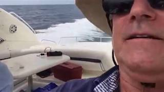 Blasting around outside the Intercostal  near Hillsboro Inlet in a 60' Sunseeker Predator