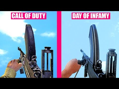 Day of Infamy Gun Sounds vs Call of Duty